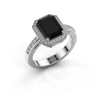 Foto van Verlovingsring Dodie 2 585 witgoud zwarte diamant 3.279 crt