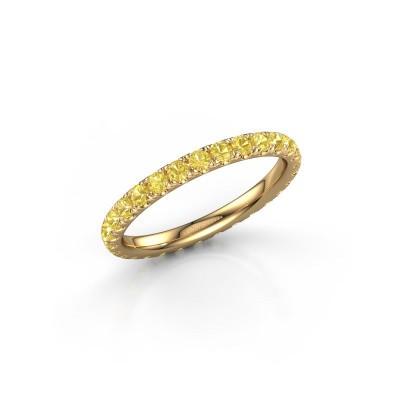 Foto van Aanschuifring Jackie 2.0 375 goud gele saffier 2 mm