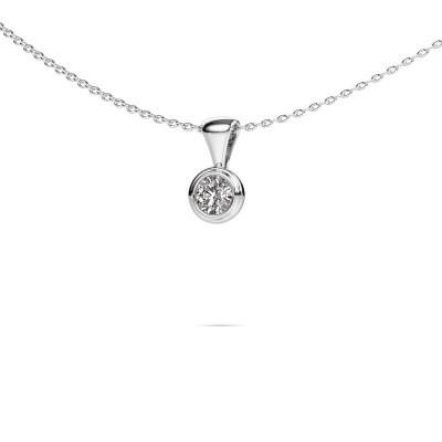 Foto van Ketting Lieke 950 platina diamant 0.25 crt