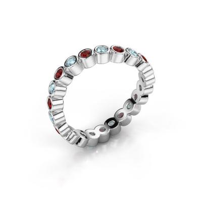 Ring Liz 925 zilver granaat 2 mm