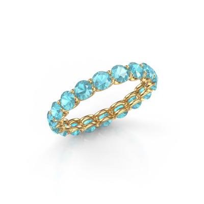 Bild von Ring Kirsten 3.4 375 Gold Blau Topas 3.4 mm