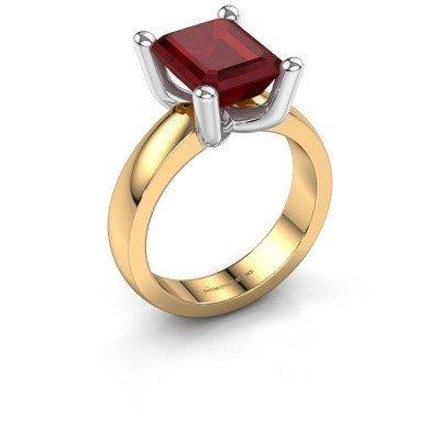 Ring Clelia EME 585 goud robijn 10x8 mm