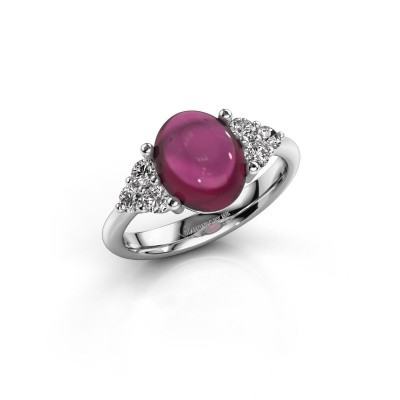 Ring Clarice 950 platina rhodoliet 10x8 mm