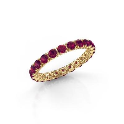 Foto van Ring Vivienne 2.7 375 goud rhodoliet 2.7 mm