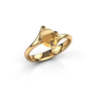 Ring Nora 585 goud citrien 8x6 mm