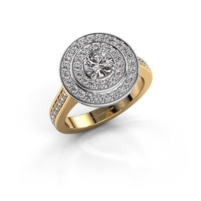 Ring Alecia 2 585 goud zirkonia 5 mm