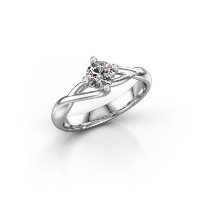 Picture of Engagement ring Paulien 950 platinum diamond 0.50 crt