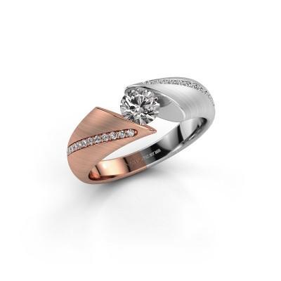 Bague de fiançailles Hojalien 2 585 or rose diamant 0.62 crt