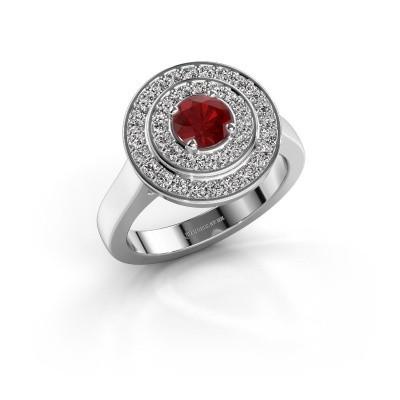 Foto van Ring Alecia 1 925 zilver robijn 5 mm