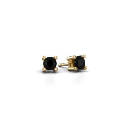 Oorknopjes Eline 375 goud zwarte diamant 0.30 crt
