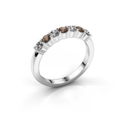 Foto van Verlovingsring Yasmin 7 925 zilver rookkwarts 2.7 mm