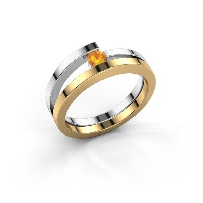Ring Sandy 585 goud citrien 3.4 mm