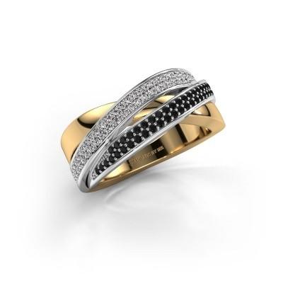 Foto van Ring Myra 585 goud zwarte diamant 0.549 crt