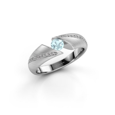 Foto van Ring Hojalien 2 925 zilver aquamarijn 4 mm