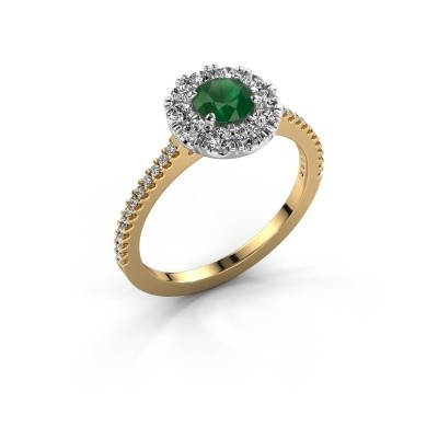 Verlobungsring Misti 2 585 Gold Smaragd 5 mm