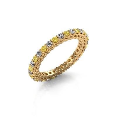 Aanschuifring Rufina 3 375 goud gele saffier 1.9 mm