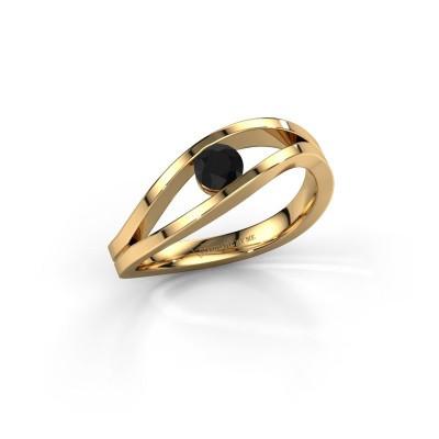 Foto van Ring Sigrid 1 585 goud zwarte diamant 0.30 crt