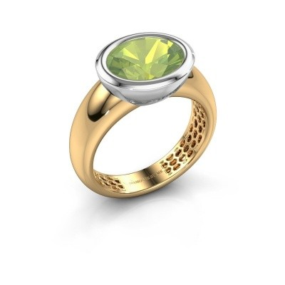 Ring Evelyne 585 goud peridoot 10x8 mm