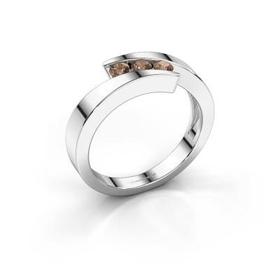 Foto van Ring Gracia 925 zilver bruine diamant 0.24 crt