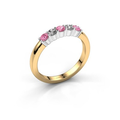 Picture of Engagement ring Yasmin 5 585 gold pink sapphire 3 mm