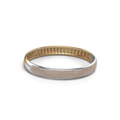 Foto van Slavenarmband Emely 9mm 585 goud bruine diamant 3.018 crt