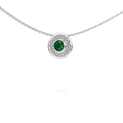 Foto van Ketting Gretta 585 witgoud smaragd 4 mm