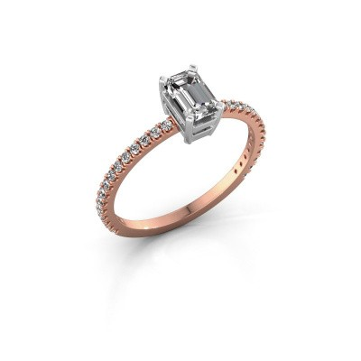 Bague de fiançailles Denita 2 585 or rose diamant 0.70 crt