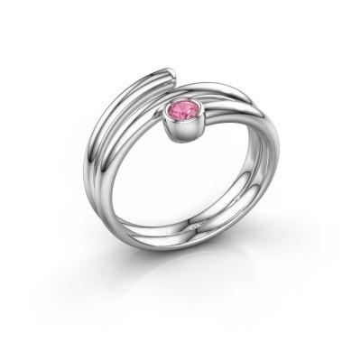 Ring Jenna 585 Weißgold Pink Saphir 3 mm