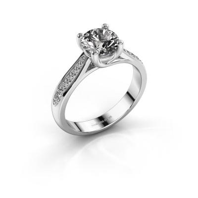 Foto van Verlovingsring Mia 2 925 zilver diamant 1.00 crt