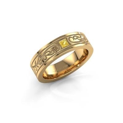 Foto van Heren ring Matijs 375 goud gele saffier 3 mm