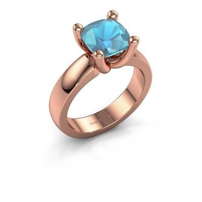 Ring Clelia CUS 585 rose gold blue topaz 8 mm