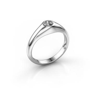 Foto van Pinkring Thorben 375 witgoud diamant 0.30 crt