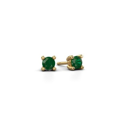 Picture of Stud earrings Sam 375 gold emerald 4 mm