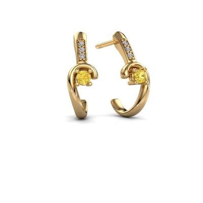 Earrings Ceylin 585 gold yellow sapphire 2.5 mm