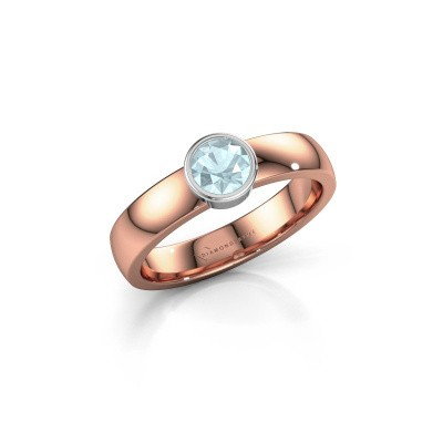 Picture of Ring Ise 1 585 rose gold aquamarine 4.7 mm