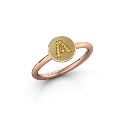 Bague Initial ring 050 585 or rose