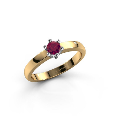 Engagement ring Luna 1 585 gold rhodolite 3.7 mm