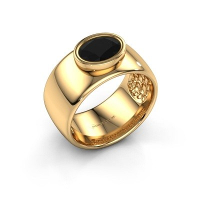 Ring Anouschka 585 goud zwarte diamant 1.380 crt