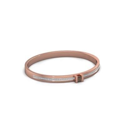 Foto van Armband Desire 585 rosé goud rookkwarts 4 mm