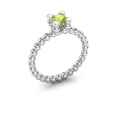 Ring Aurore 585 witgoud peridoot 5 mm