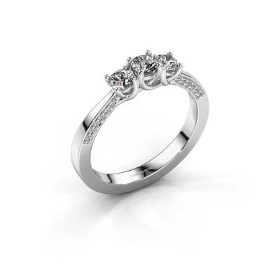 Foto van Verlovingsring Rivka 585 witgoud diamant 0.50 crt