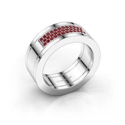 Foto van Ring Marita 1 925 zilver robijn 1.1 mm