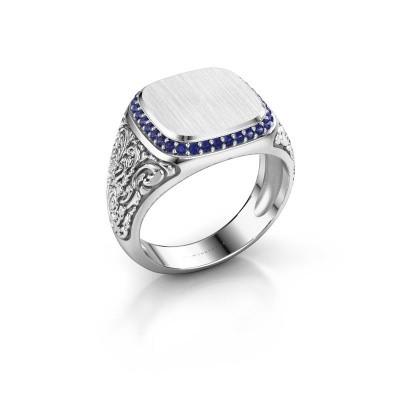 Heren ring Jesse 2 925 zilver saffier 1.2 mm
