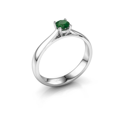 Verlobungsring Sam 925 Silber Smaragd 4.2 mm