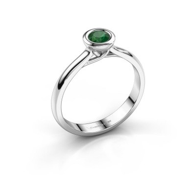 Foto van Verlovings ring Kaylee 950 platina smaragd 4 mm