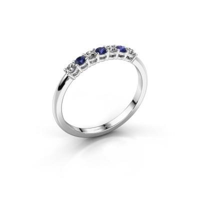 Foto van Verlovings ring Michelle 7 585 witgoud saffier 2 mm