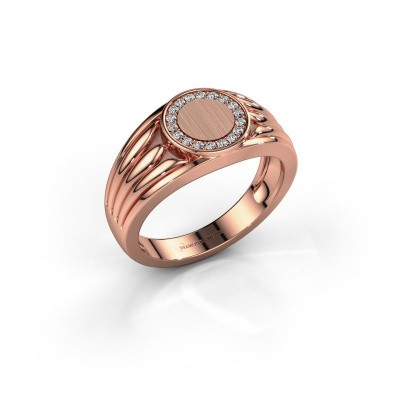 Pinky ring Jacobus 375 rose gold diamond 0.135 crt