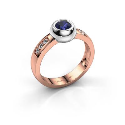 Ring Charlotte Round 585 rosé goud saffier 4.7 mm