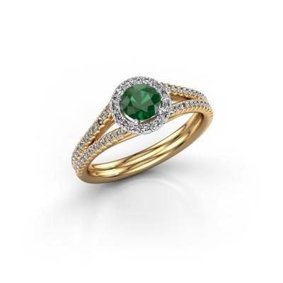 Bild von Verlobungsring Verla rnd 2 585 Gold Smaragd 4.7 mm