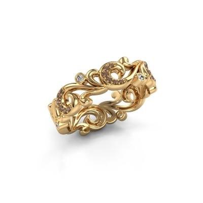 Foto van Ring Svetlana 375 goud bruine diamant 0.238 crt
